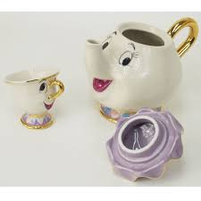 amazon com new beauty and the beast mrs potts chip tea pot u0026 cup