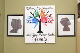 diy family tree wall silhouette picture ease