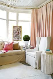 White Silk Curtains Pink Silk Curtains Contemporary Living Room Atlanta Homes
