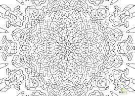 3d geometric coloring page circle with radiant swirls have a