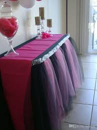 black tulle table skirt ful tulle tutu table skirts no sew hand made for party holiday