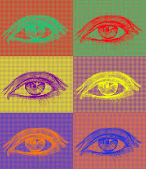 complementary colors eyes in complementary colors stock vector illustration of iris