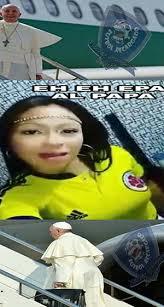Colombia Meme - la llegada del papa a colombia en memes canal 1
