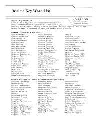 List Of Resume Action Verbs by Resume Action Words List Pdf Professional Resumes Example Online