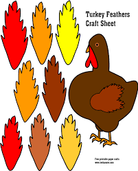 Thanksgiving Turkey Colors Colored Turkey Feather Clipart Clipartxtras