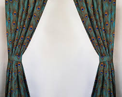 Made To Measure Drapes Peacock Curtains Etsy