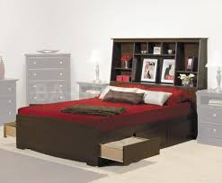 black wooden storage bed with headboard shelf plus connected
