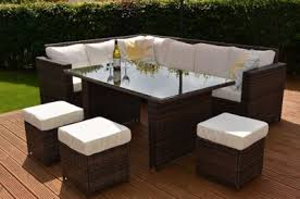 Outdoor Rattan Corner Sofa Buy Granada Garden Rattan Corner Sofa Dining Set With Table And
