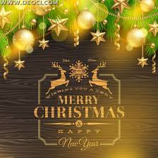 2014 merry christmas card vector material wood background poster