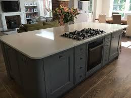 grey bespoke kitchen plummet paint honey oak van gogh flooring