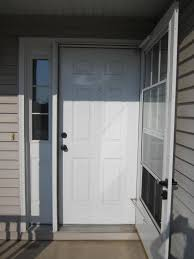 repairing dings and scratches in a metal door home staging in
