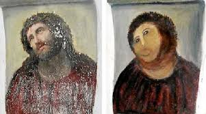 Monkey Jesus Meme - amateur restoration botches jesus fresco in spain public radio