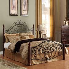 Bedrooms With Metal Beds Madera Deco Scrollwork Queen Size Metal Bed Home Interior Design