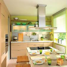 Ideas For Kitchen Decor Green Paint And Kitchen Accessories Small Kitchen Decorating Ideas