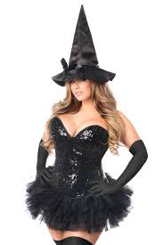 Corset Halloween Costumes Size Black Drawer Size 4 Pc Witch Corset Costume
