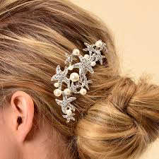 starfish hair clip remedios starfish wedding comb prom bridal bridesmaid