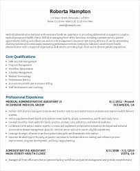 Resume Template For Medical Assistant 10 Executive Administrative Assistant Resume Templates U2013 Free