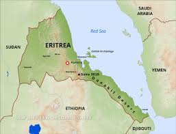 Map Of The Red Sea Eritrea Physical Map