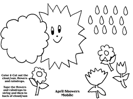 showers bring may flowers coloring page
