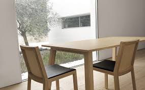 Beech Dining Room Furniture by Contemporary Table Oak Solid Wood Beech Oxton By Enrico