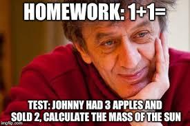 College Test Meme - really evil college teacher meme imgflip