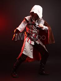 Ezio Halloween Costume 2015 Assassin Creed Revelation Ezio Thick Denim Cosplay Costume