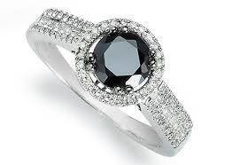 diamond halo rings images Black diamond halo ring american swiss jpg