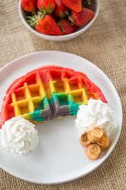 belgian rainbow waffles dinner then dessert