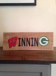 wisconsin winning sign green bay packer winning sign salvaged