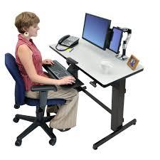 Standing Sitting Desks Adjustable by Ergotron Workfit D Sit Stand Desk Height Adjustable Desks