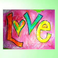 jumbo love hand painted extra large large wall art mural 6 5 x 5 jumbo love hand painted extra large wall art mural x 5 painting for tween teen bedroom or dorm or game room via etsy