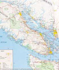 Map Washington State Map Of Southwestern British Columbia And Northern Washington State