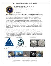 fbi pedophile symbols wikileaks