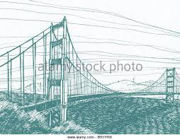 golden gate bridge illustration stock photos u0026 golden gate bridge
