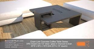 48 Square Coffee Table Concrete Coffee Tables Dr5 Chain Link Series Rebar U0026 Glass