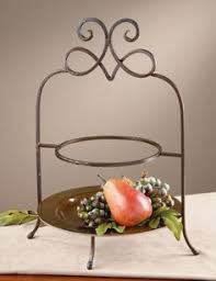 southern living at home two tier pie plate iron black holder rack
