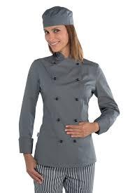 tenu de cuisine femme veste cuisine chef grise vêtement de cuisine mylookpro