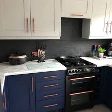 painting kitchen cabinets frenchic shares before and after pictures of diy navy and