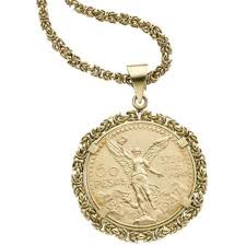 necklace pendant coin images Mexican gold coin gold pendant necklace jpg