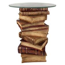 power of books sculptural glass topped side table power of books sculptural glass topped side table ng32069 design