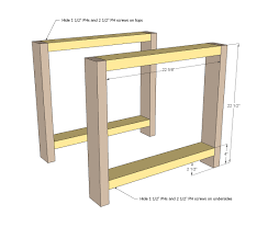 Woodworking Plans Coffee Table Legs by Ana White Rustic X End Table Diy Projects