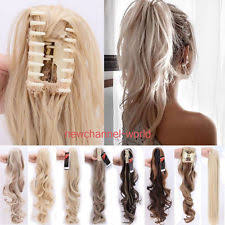 clip on ponytail claw clip ponytail wigs extensions supplies ebay