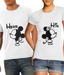 Buy Disney s Mickey and Minnie Couple T Shirts line at Best Prices