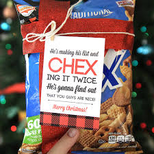 easy neighbor gift idea chex mix cute tag printable tags