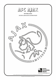 cool coloring pages soccer clubs logos afc ajax logo