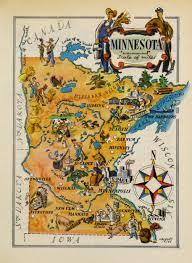 Minnesota Map Minnesota Pictorial Map 1946