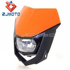 aliexpress com buy new rmz zjmoto new universal motoebike headlight lamp orange streetfighter