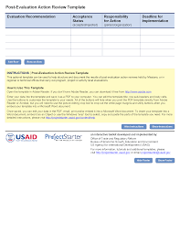ar report template post evaluation review template project starter usaid