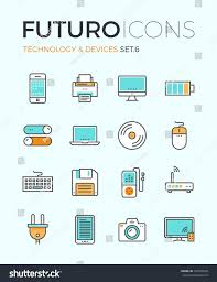 Home Design Elements Line Icons Flat Design Elements Personal Stock Vector 274943540