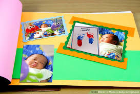 Making A Photo Album How To Make A Baby Scrapbook 8 Steps With Pictures Wikihow
